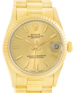 Rolex Rolex President Datejust Midsize 18K Gold Automatic Ladies Watch 68278