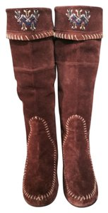 ALDO Moccasin Embroidered brown Boots