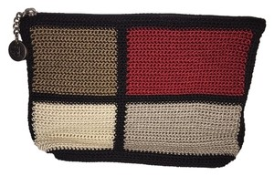 The Sak tan/red/dark tan/black trim Clutch
