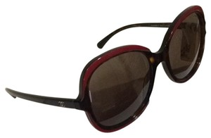 Chanel Red and Black Oversized Sunglasses