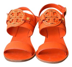 Tory Burch Amanda Wedges Orange Sandals