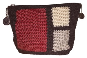 The Sak Black trim/tan/red Clutch