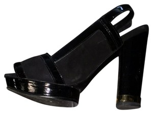 Tory Burch Black Gold Platforms