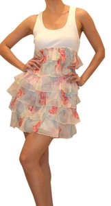 Betsey Johnson short dress White / Multi Color Floral on Tradesy