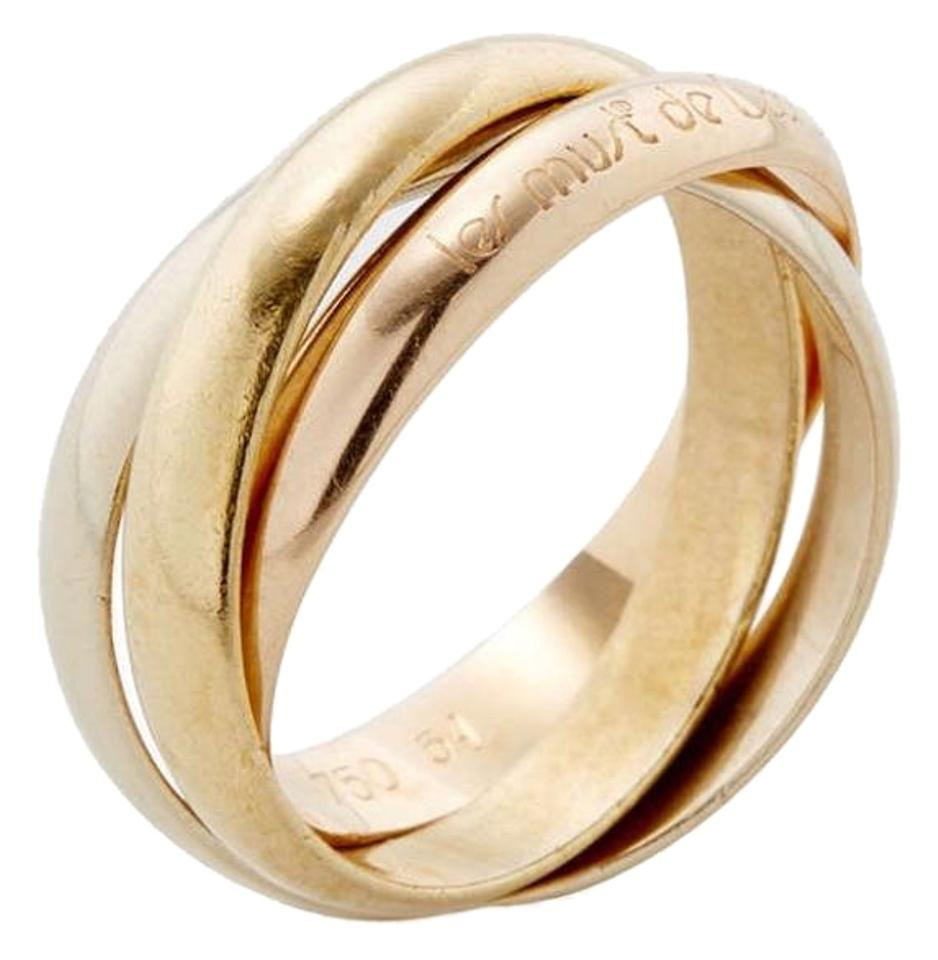 cartier trinity 18k gold ring size 4 47 54 off retail. Black Bedroom Furniture Sets. Home Design Ideas