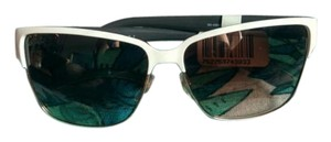Gucci Gucci sunglasses white and gold with leather