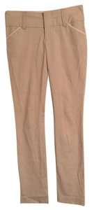 Alice + Olivia Straight Pants Beige and white