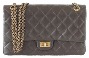 Chanel 2.55 Medium Leather Double Flap Shoulder Bag