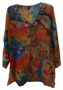 Unknown Top Multi Colored