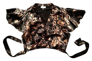 Karen Millen Wrap-up Shrug Silk Floral Cape