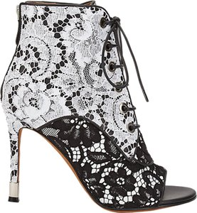Givenchy Lace Bootie Black and White Boots