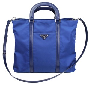 Prada Shoper Tote in Blue