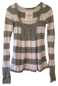 Hollister Rabbit Hair Striped Fall Sweater