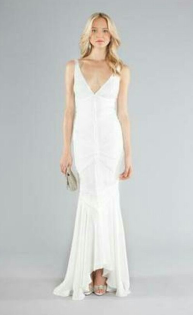 Item - Antique White Silk Fj0017 Vintage Wedding Dress Size 2 (XS)