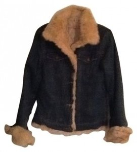 Other Denim jacket with rabbit fur Womens Jean Jacket