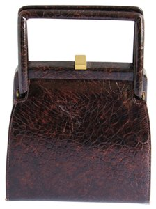 Saks Fifth Avenue Ave Purse Satchel in Mahogony Brown