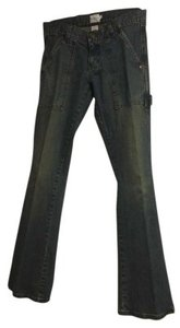 Calvin Klein Tag Shows Size 5 Boot Cut Jeans-Dark Rinse