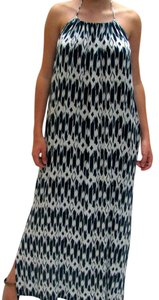 Ink Blue/White CNA Maxi Dress by J.Crew