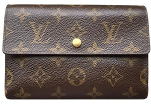 Louis Vuitton (SAME DAY SHIPPING) PVC Trifold Coin Case Mens Clutch Monogram