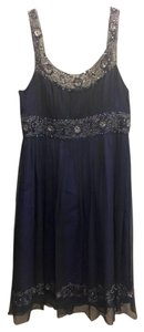 Adrianna Papell Silk Beaded Wedding Guest Dress