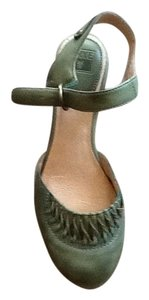 Frye Leather Green Wedges