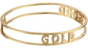 Kate Spade NWT KATE SPADE GOOD AS GOLD WORD OF WIDSOM BANGLE BRACELET $78 BAG