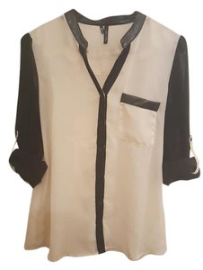 Maurices Sheer Work Top Creme and Black