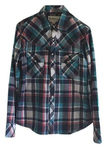 True Religion Button Down Shirt Plaid