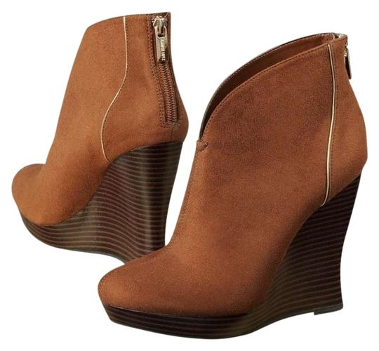 Jennifer Lopez Cognac Wedges