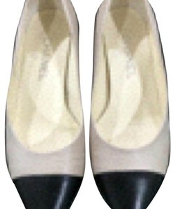 Chanel Nude and Black Flats