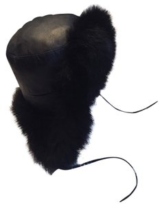 Kyi Kyi Kyi Kyi Leather/Fox Fur Trapper Hat