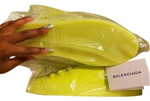 Balenciaga High Top Arena Yeezy Fluorescent yellow Athletic