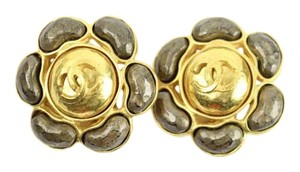 Chanel Gripoix Stong CC Flower Earrings 10CCAA802