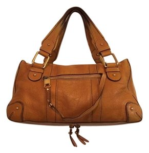 Marc Jacobs Leather Travel Satchel in TAN