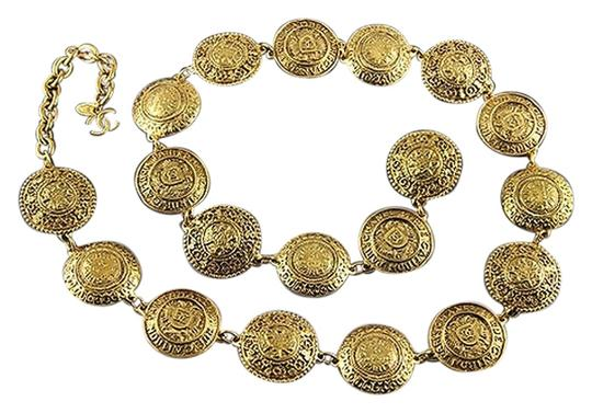 Chanel CHANEL Gold Necklace 19 CC Logo Coin Medallions Collier Extra Long or Chic Belt