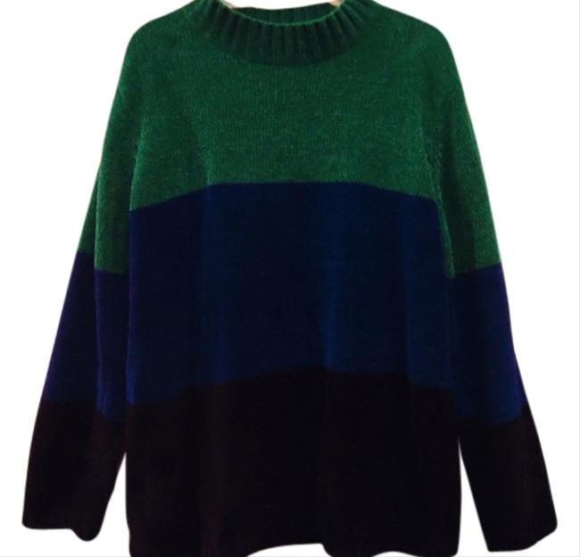 Preload https://item2.tradesy.com/images/sag-harbor-green-blue-and-black-sweaterpullover-size-18-xl-plus-0x-1835231-0-0.jpg?width=400&height=650