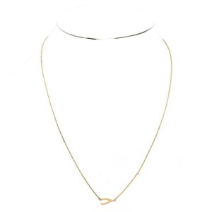 Modern Edge 14K gold dipped wishbone pendant necklace