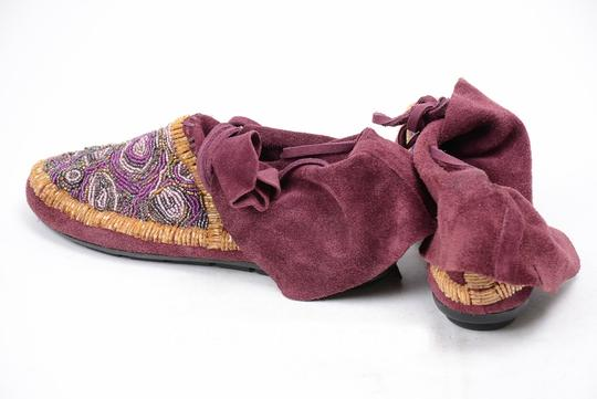 House of Harlow 1960 Beaded Rare Moccasins purple Boots Image 1