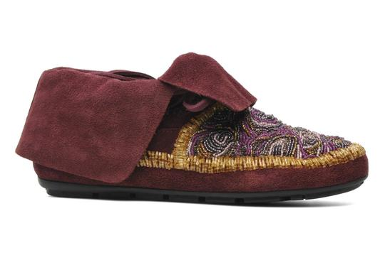 House of Harlow 1960 Beaded Rare Moccasins purple Boots Image 3
