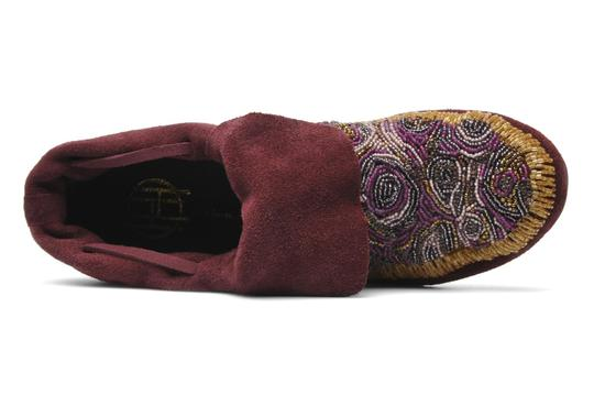 House of Harlow 1960 Beaded Rare Moccasins purple Boots
