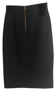 Banana Republic Pencil Exposed Zipper Skirt Black