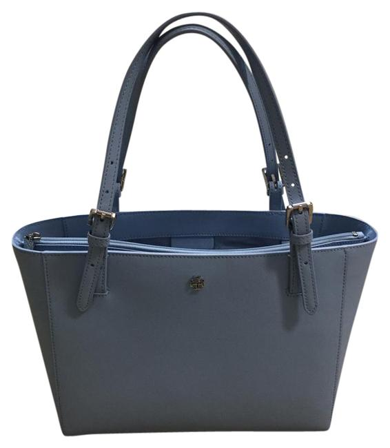 Item - 'small York' Buckle Light Blue Leather Tote