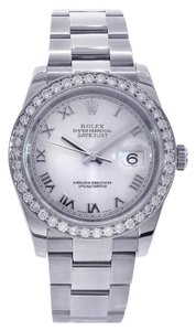 Rolex Rolex 116300 Datejust with Customized Diamond Bezel SS Watch