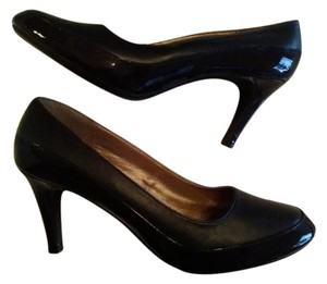 Hush Puppies Navy Patent/leather Pumps