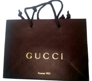 GUCCi Authentic Gucci Small Shopping Bag Embossed Logo 9