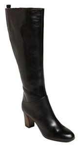 Attilio Giusti Leombruni Knee High Tall Leather Black Boots