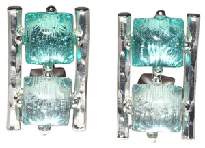 Double Resin Stacked Clip On Earrings