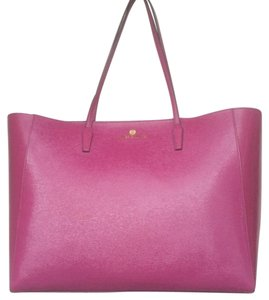 Vince Camuto Leather Tote in Berry