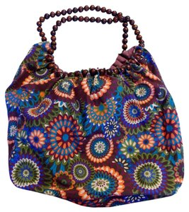 Unknown Wood Beads Floral Beach Multi Colored Travel Bag