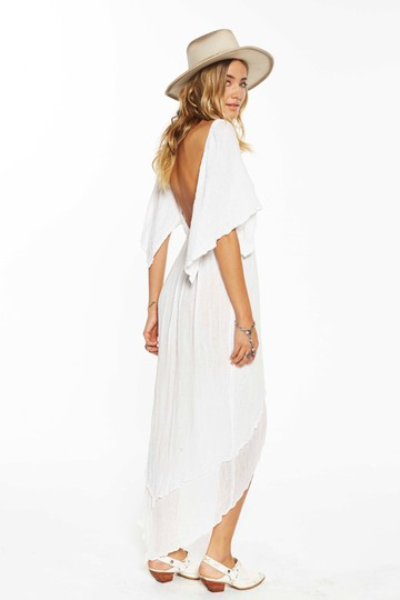 e18b85d22c Jen's Pirate Booty White New Ethereal Oodles Of Gauze Hi Lo Maxi Small Maxi  Dress -